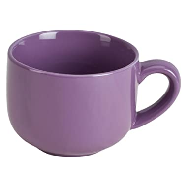 24 ounce Extra Large Latte Coffee Mug Cup or Soup Bowl with Handle - Purple Violet