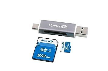 Amazon.com: Smartq C350 Type-C USB-A lector de tarjeta de ...