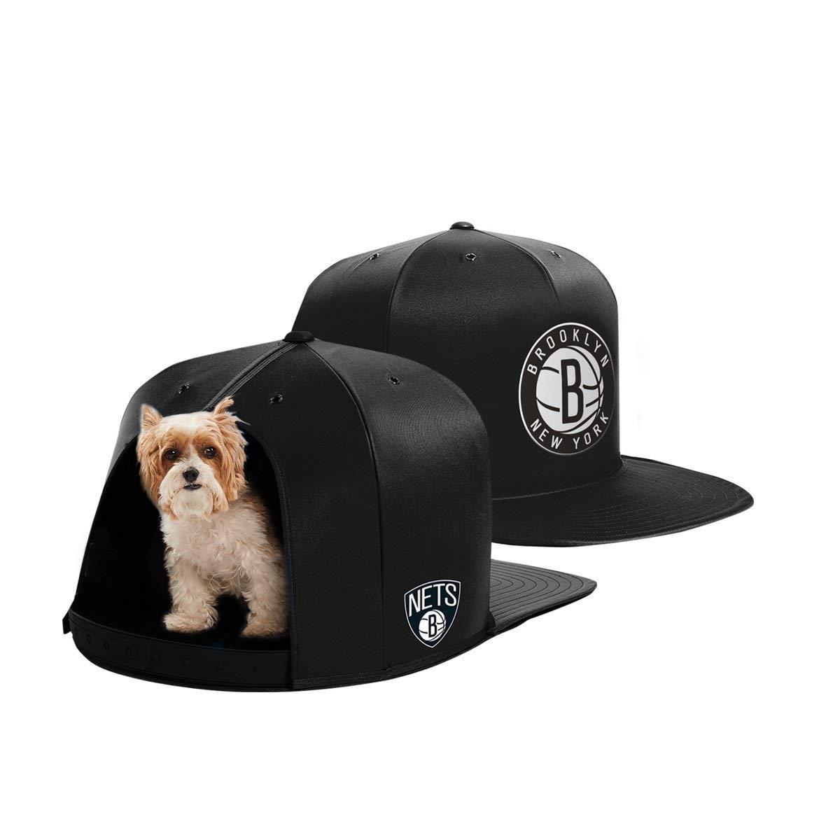 NAP CAP NBA Brooklyn Nets Team Indoor Pet Bed, Black (Small)