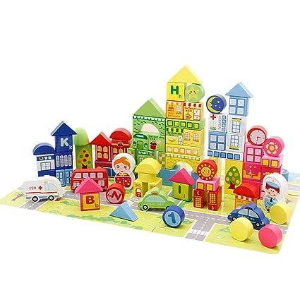 Puzzle De Madera Bloques De Construccion 160 Piezas De Bloques De
