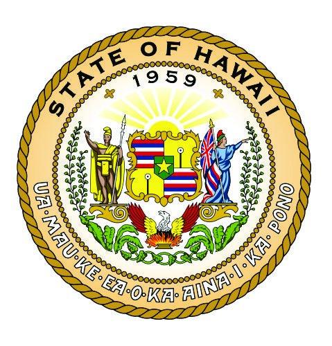 - Hawaii State Seal Vinyl Sticker Decal