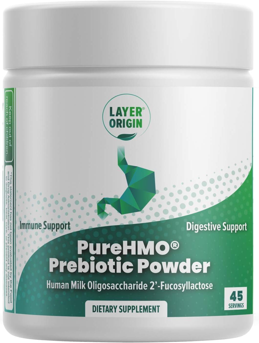Layer Origin - PureHMO Human Milk Oligosaccharide Powder, Bioidentical 2'-Fucosyllactose, 1950 mg, 45 Servings