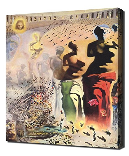 Salvador Dali Hallucinogenic Toreador Framed Canvas Art Print Reproduction