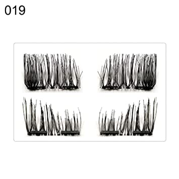 d69cb22fdc0 Amazon.com : Fake Eyelashes By gLoaSublim, Magnetic Synthetic Eyelashes  Handmade Long Thick Natural False Lashes Extension - 19# : Beauty