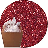 Glitter My World! Craft Glitter: 25lb Box: Gala Red