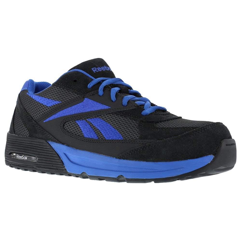 Reebok RB4721 Men's Beviad Safety Shoes - Dark Grey B00BSQHKMG 8.5 2E US|Black/Blue