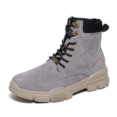 580cfcc295d36c Feidaeu Bottes pour Hommes Cuir Montantes Martin Boots Lacets Hiver Desert Bottines  Mode Chaussures de Neige Classique Chaussure: Amazon.fr: Chaussures et ...