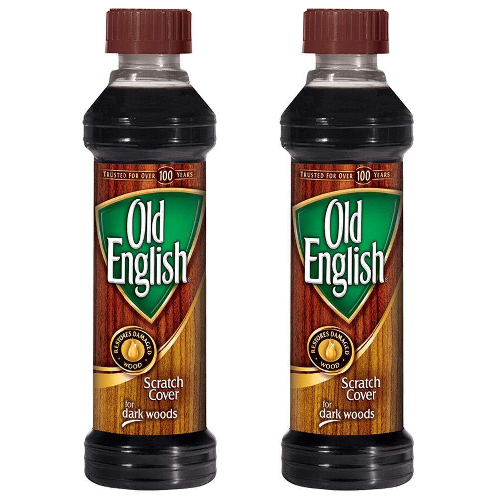 Old English Scratch Cover for Dark Woods, 8 fl oz Bottle, Wood Polish (Pack of 2) by Old English