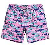 MaaMgic Mens Boys Short Funny Shark Swim Trunks