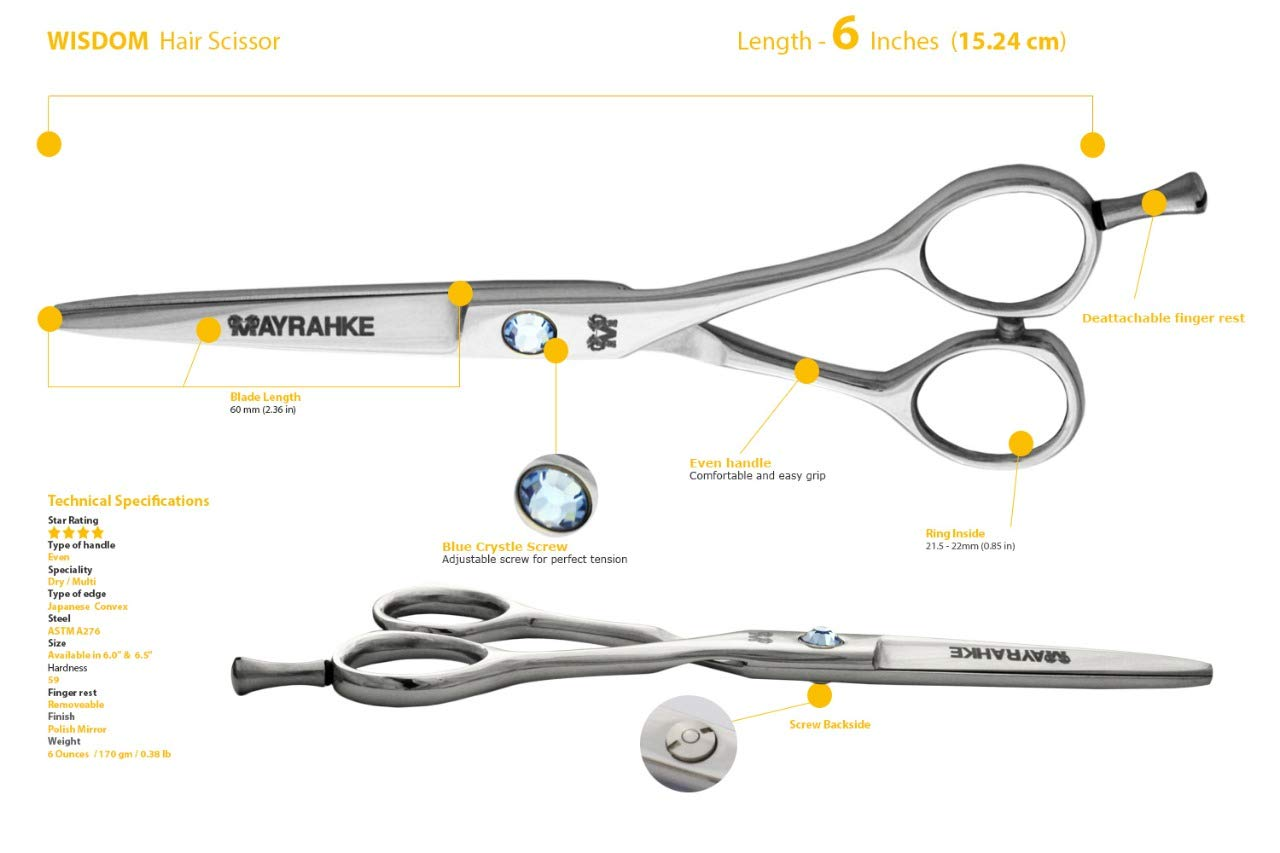 Supreme 6.0'' Professional Barber Shears Hair Cutting Scissor *Japanese S.S by Supreme Hair (Image #1)