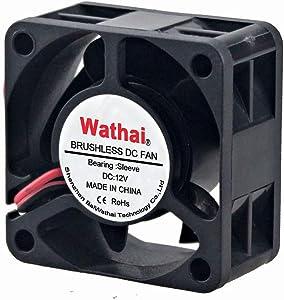 Wathai 40x40x20mm 40mm 12V 2Pin DC Burshless Cooling Fan