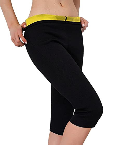 cf5546161d4 FUT Women s Slimming Pants Body Shaper Thigh Shapewear Sweat Capris Neoprene  at Amazon Women s Clothing store