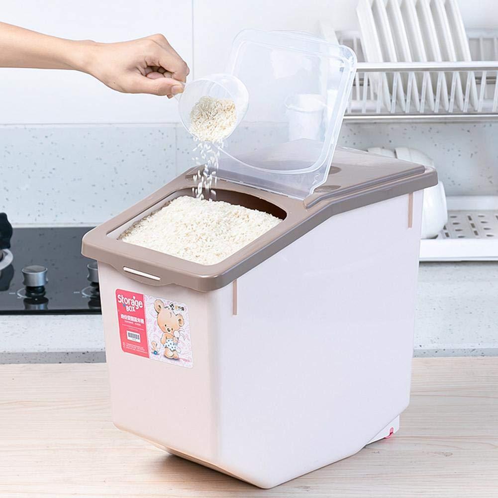 Contenitore di stoccaggio di Cereali a Prova di umidit/à Contenitore di plastica sigillato di Grande capacit/à con coperchi per stoccaggio Contenitore di stoccaggio per Alimenti secchi di Cereali