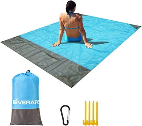 Amazon.com: GIVERARE - Manta de playa sin arena, impermeable ...