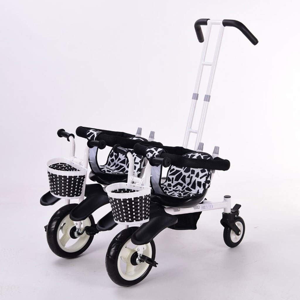 Sillas de Paseo Ligeras Cochecito Doble Triciclo Bicicleta de bebé Doble Bicicleta Cinco Modos Gratis con 3 Puntos Protección de Seguridad Carro de bebé Carritos y sillas de Paseo (Color : B)