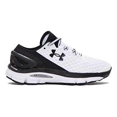 black and white under armour shoes