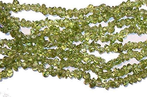 6--7mm Green Peridot Chips Beads Strand 34