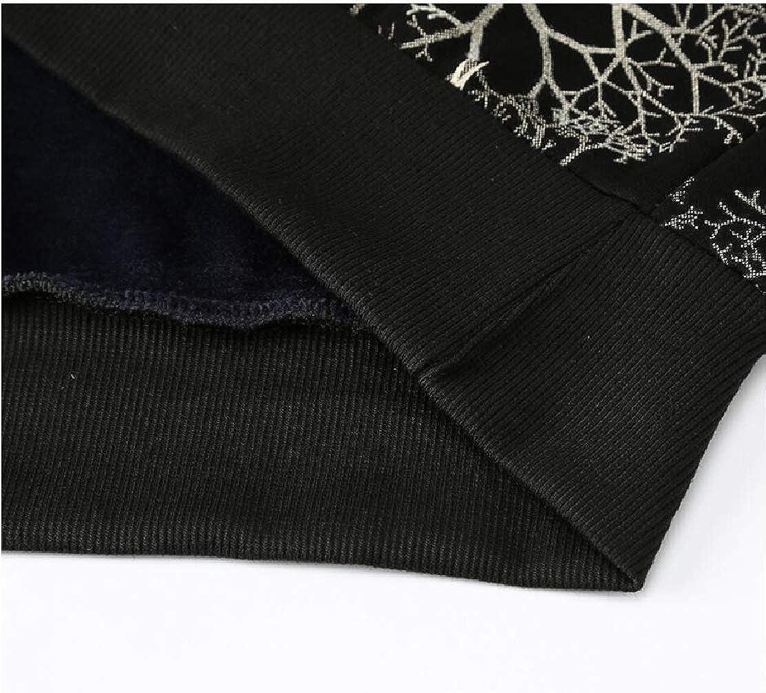CYJ-shiba Men Crewneck Long Sleeve Pattern Print Autumn Winter Sweatshirt Pullover