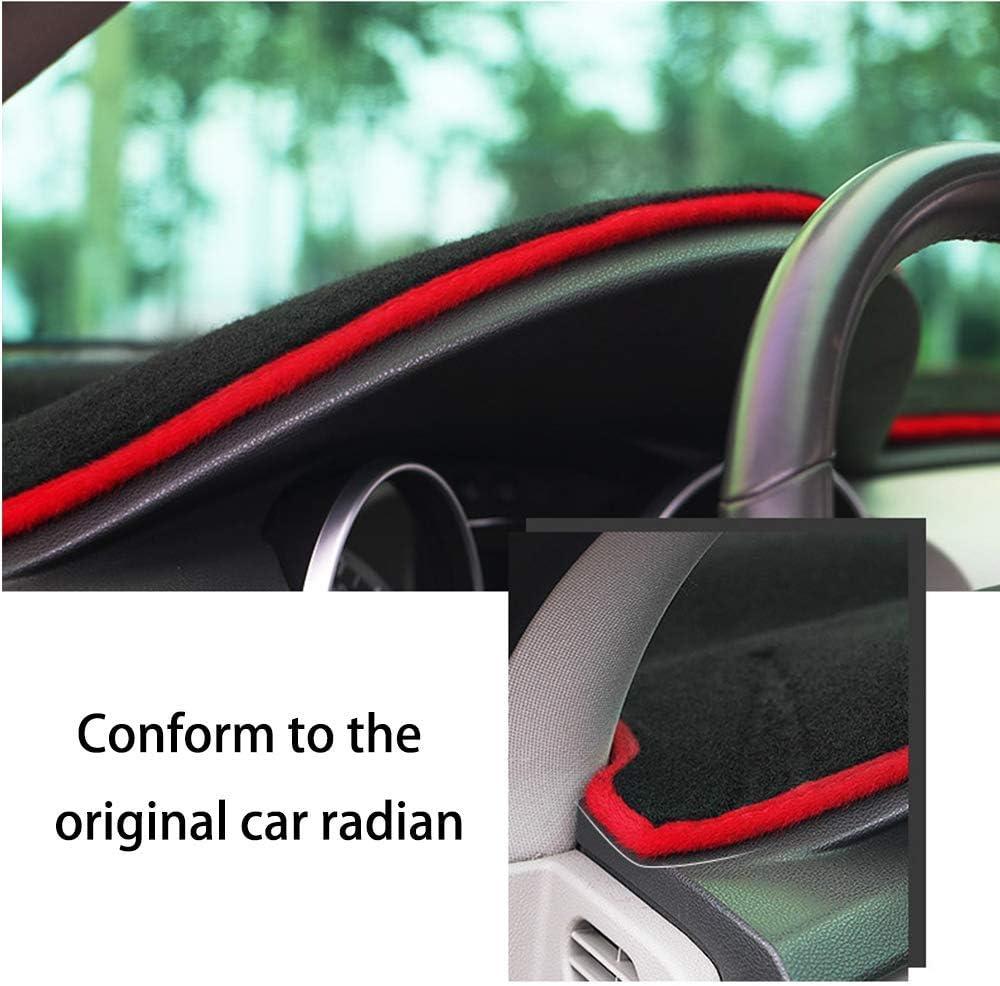 2015-2018 Auto Dashboard Pad DashMat Dash Board Cover SureKit Car Custom Dash Cover for Ford Edge 2011-2014 Black line