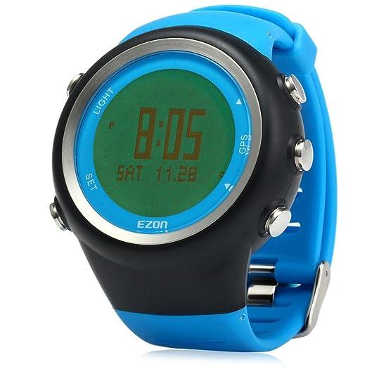 Leopard Shop ezon Hombres Reloj Deportivo Running GPS Series resistente al agua exterior azul: Amazon.es: Relojes
