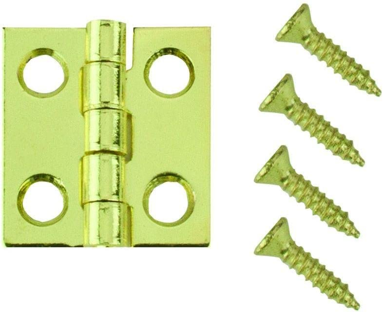 Bright Brass Middle Hinges 3//4 in x 11//16 in