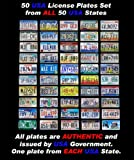 50 REAL UNITED STATES LICENSE PLATES SET USA NUMBER TAG LOT DECOR BEST DEAL US