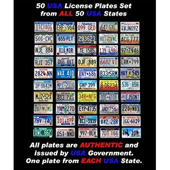 Amazon Com 50 Real United States License Plates Set Usa