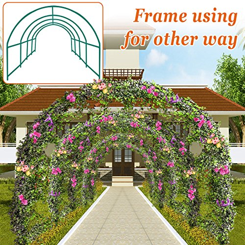 Strong Camel Multi-use Support Arch Frame for Climbing Plants/Flowers/Vegetables (16' X 7' X 7') ()