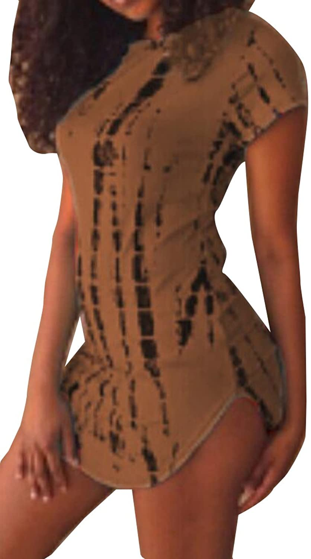 Generic Women Arc-Shaped Hem Sexy Clubwear T-Shirts Dress