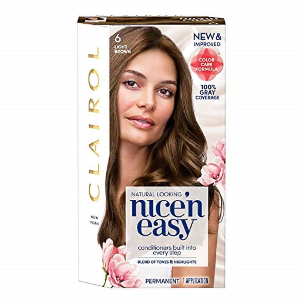Amazon.com: Clairol Nice n Easy Permanent Color, [6A] Light Ash Brown 1 ea Pack of 3: Beauty