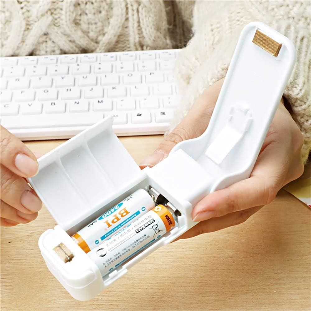 saldatore per sacchetti portatile bianco termosigillatore portatile da 2 pezzi per sacchetti di plastica Snack per alimenti Conservatore di sacchetti freschi Ldawy Sigillatore per mini sacchetti