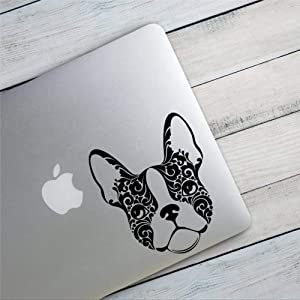 DONL9BAUER Boston Terrier Car Stickers Vinyl Auto Scratch Cover APL Car Decal for Laptop Travel Case Tumbler Door Window Bumper Luggage Idea