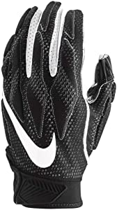 Nike Men's Super Bad 4.5 Football Gloves, White/Black