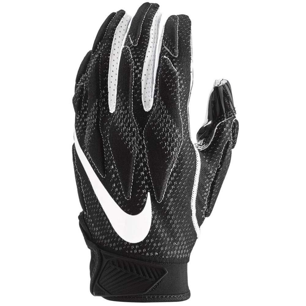 Nike Men's Super Bad 4.5 Football Gloves Black/White (X-Large, Black/White)