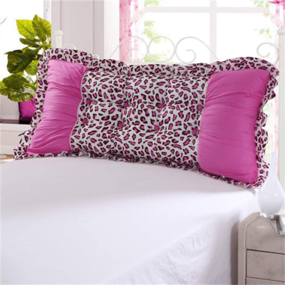 GLP 韓国のプリンセスガーデン綿ヘッド背もたれベッドソファ大クッション枕枕腰椎枕取り外し可能と洗える、24色&5サイズ (Color : U, Size : 180x20x60cm) B07TF7NL85