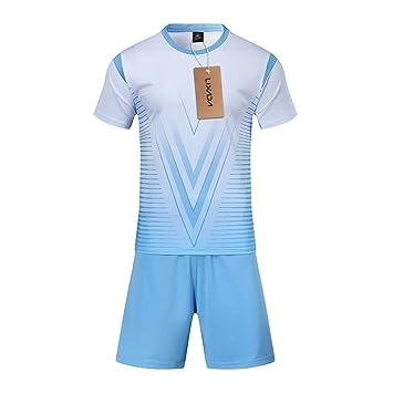 Lixada Set de Camisetas de fútbol Profesional para Adultos/Niños Set de fútbol Respirable Set