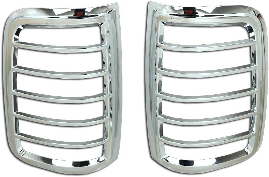 FOR 2014-2018 GMC Sierra Chrome Taillight Trim Bezel Tail Light Cover