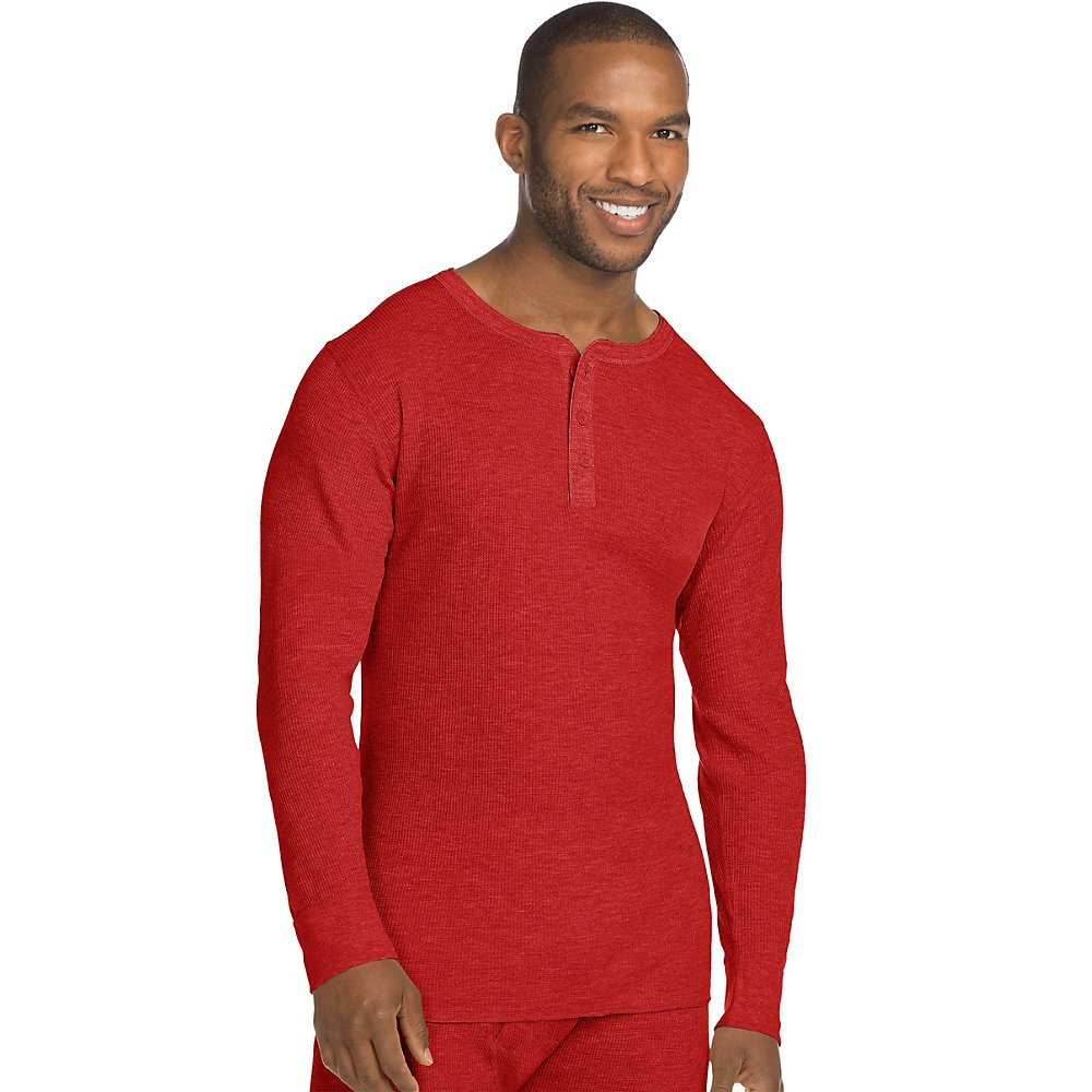 Hanes Men's X-Temp Thermal Longsleeve Henley Top Hanes Men's Thermals 25440