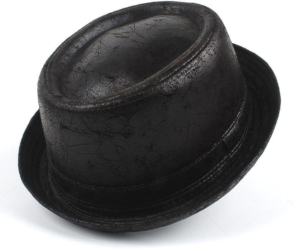 Mens Wool Pork Pie Boater Jazz Top Hat Felt Wide Brim Fedora Gambler Hat Great