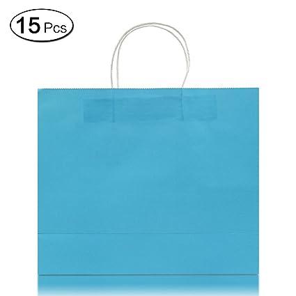Jia Hu 15pcs horizontal papel Kraft bolsas de papel con asa ...