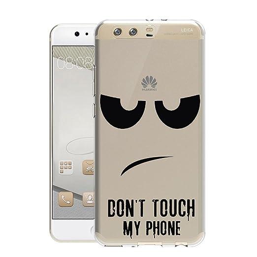 6 opinioni per Huawei P10 Cover , YIGA Moda Interessante Divertente Trasparente Silicone