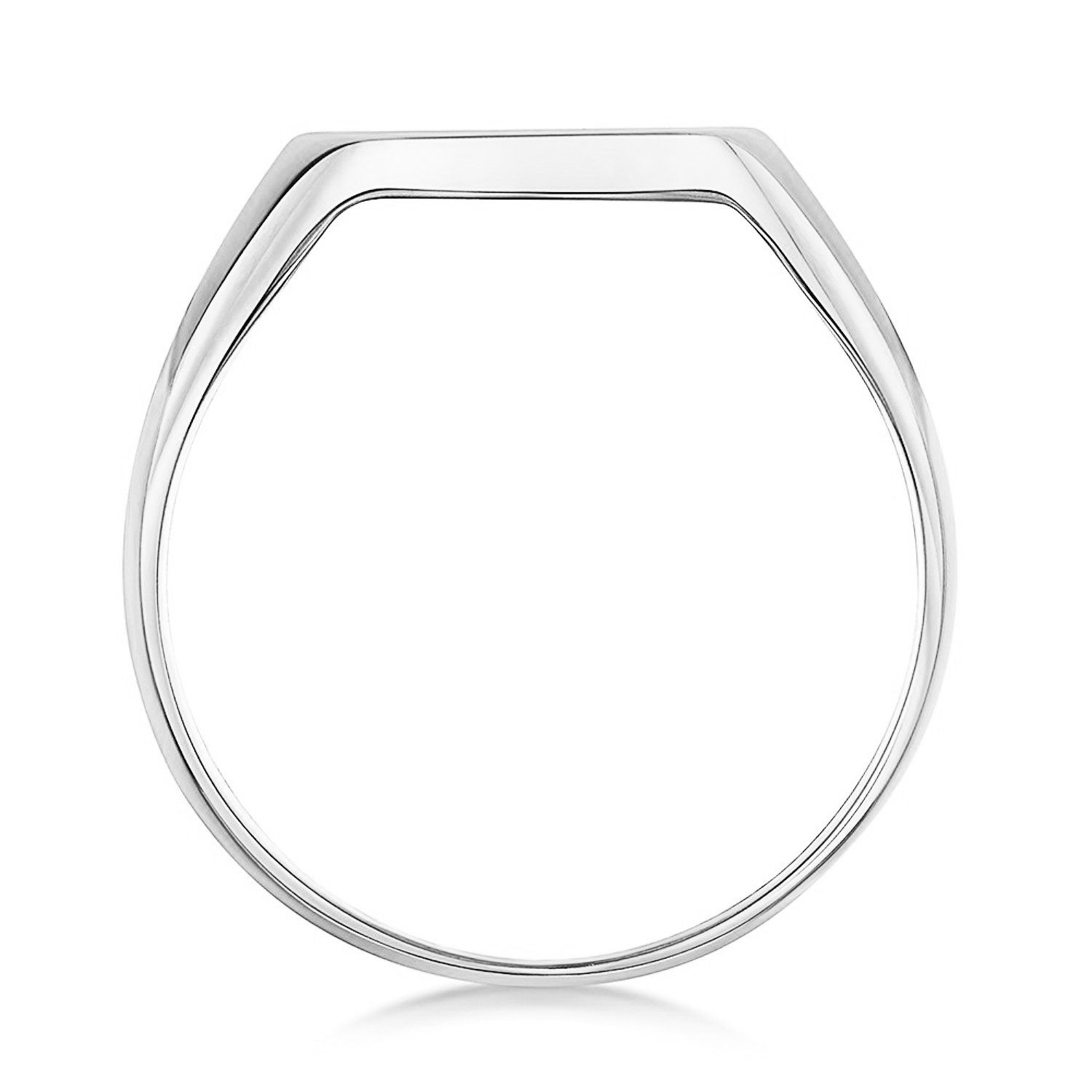 Unisex Sterling Silver Cushion Shape Heavy Weight Polished Signet Ring 12x12mm (6) by LANDA JEWEL (Image #4)