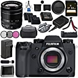 Fujifilm X-H1 Mirrorless Digital Camera (Body Only) 16568731 XF 18-55mm f/2.8-4 R LM OIS Zoom Lens 16276479 VPB-XH1 Vertical Power Booster Grip Bundle