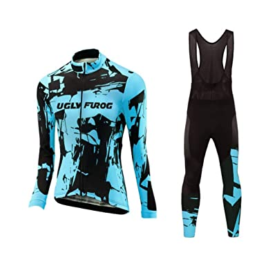 Amazon.com  Uglyfrog Women Winter Bike Wear Thermal Cycling Jersey Suits  with Fleece  Clothing d70b05404
