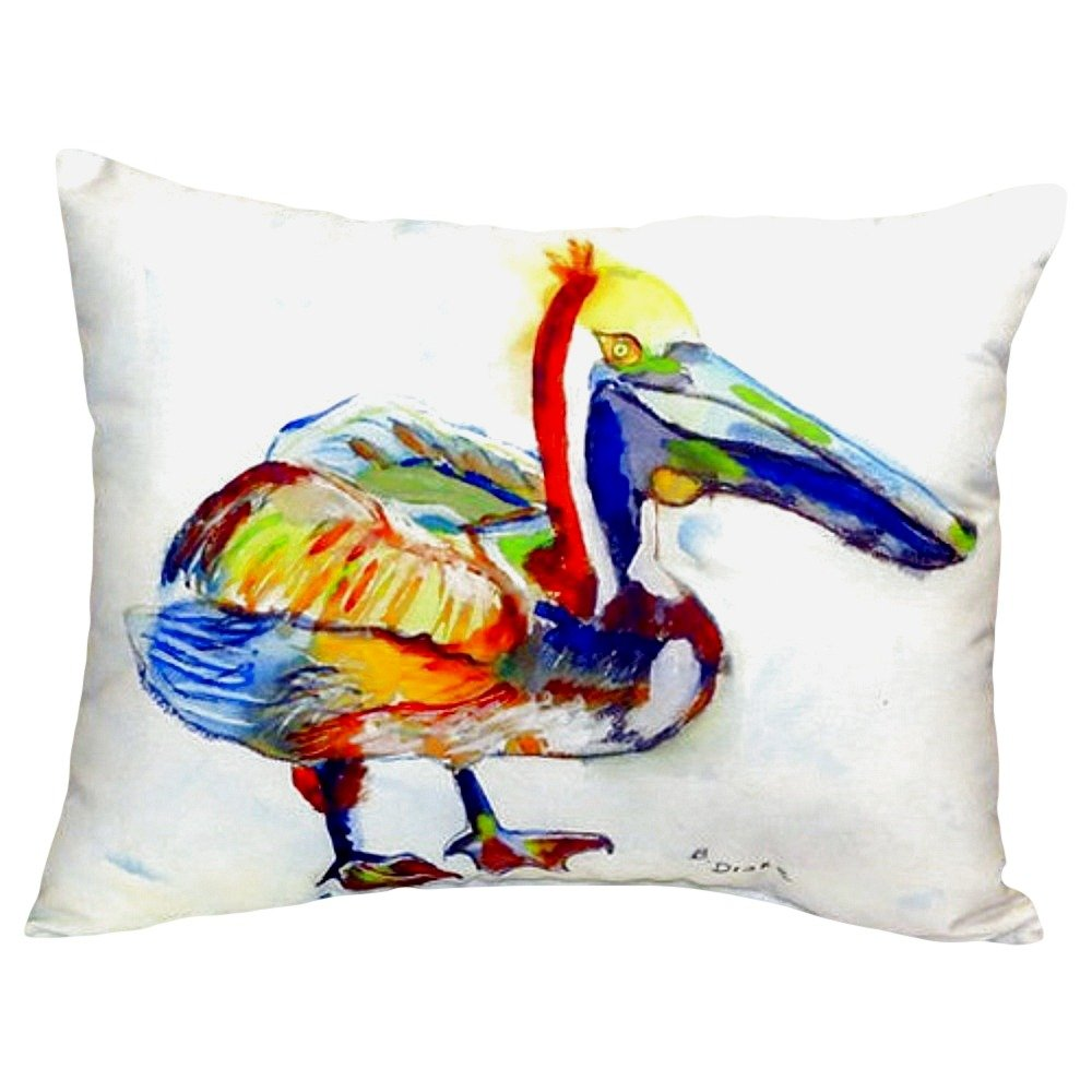 Betsy Drake NC983A Heathcliff Pelican No Cord Pillow 16 x20