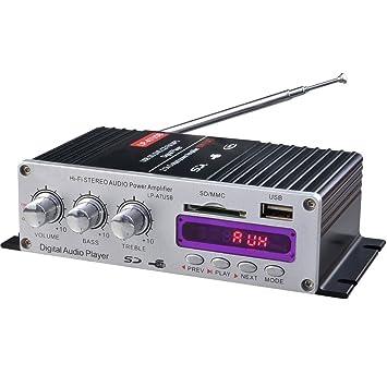 polarlander música 12 V amplificador Hi-Fi estéreo amplificador a7usb FM Cable de audio para