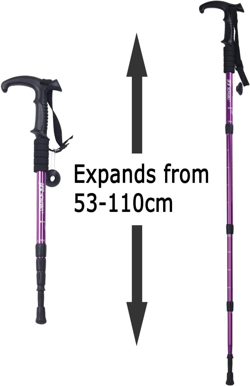 Bâton de trekking//marche randonnèe aluminium Antishok  réglable 50-110 cm