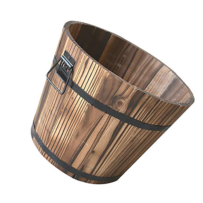 Pequeña maceta de madera, de Lembeauty, maceta para ...