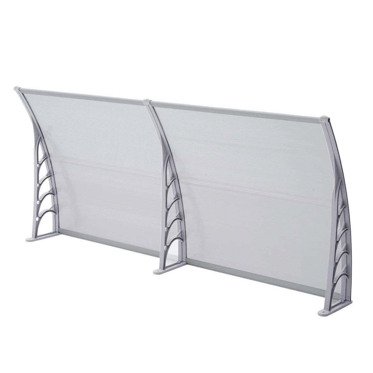 80 x 100 cm SVITA Vordach T/ür-Dach /Überdachung transparent Schutz vor Niederschlag und Witterung