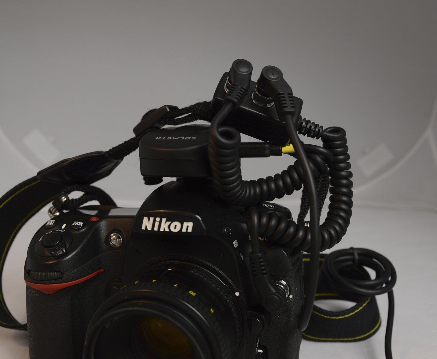 Solmeta 10 Pin Y Splitter Cable For Nikon Camera D800 Imaging Products Parts And Controls D800e D4 D3 Series D700 D300 D2x D2xs D2hs D200 Camcorder